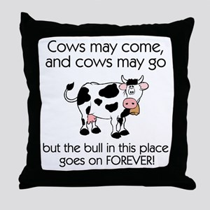 Lots of Bull Throw Pillow